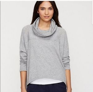 Eileen Fisher funnel neck cropped top medium